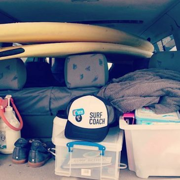 Back of the surf school van essentials @surfinggb @korevlager