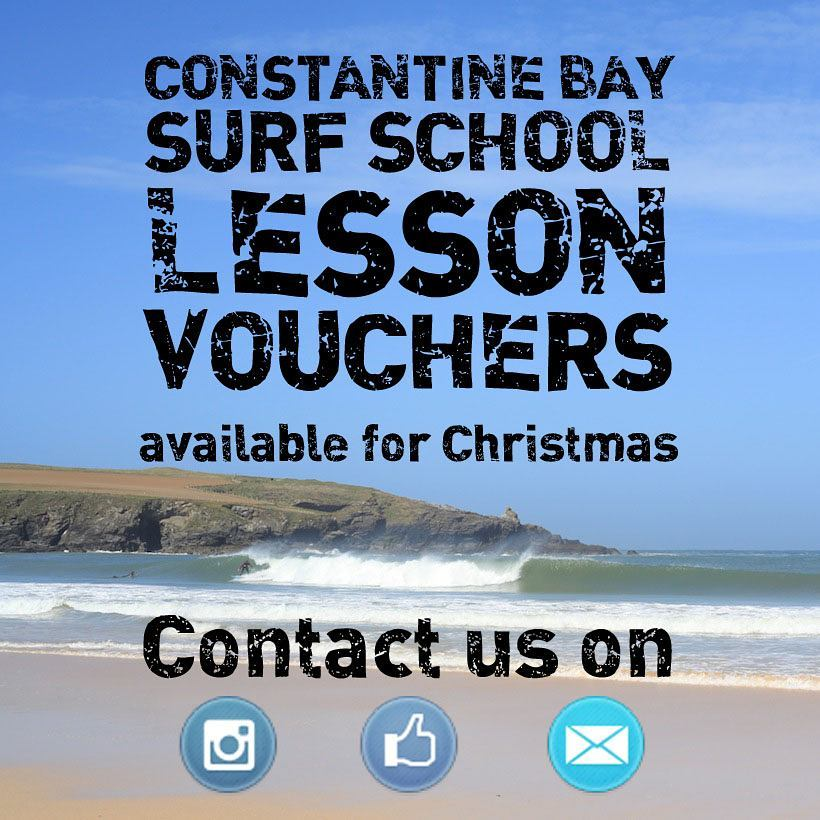 Surf lesson vouchers available for Christmas just email or direct message for details #Christmas #cornwall #Padstow