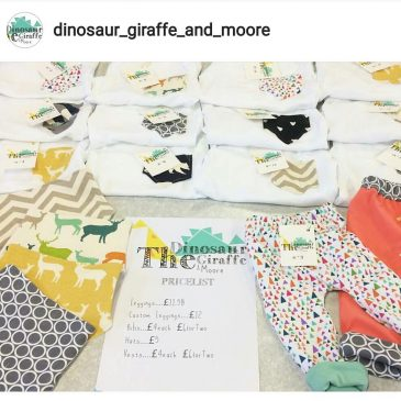 Had an epic day with the baby while Sophie had a stall at St Merryn arts & craft Christmas fair – if you missed it she'll be back tomorrow @dinosaur_giraffe_and_moore