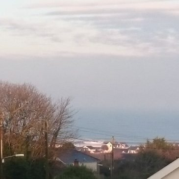 Surf looking nice from the bedroom window this morning