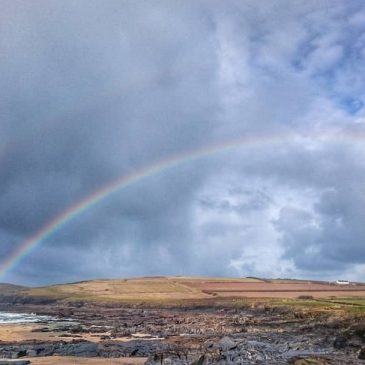 My mum is calling it the year of rainbows. See one almost every day this year. #constantinebay #cornwall