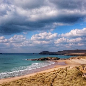 No snow, just another stunning day at Constantine bay.