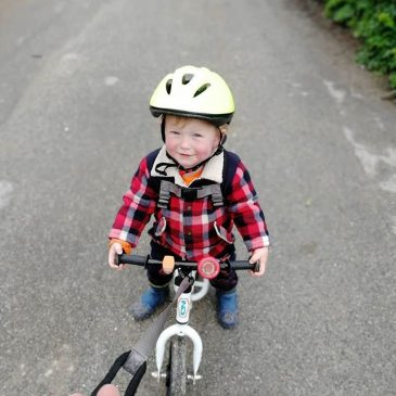Big day of bike riding for the boy yesterday, bombed Trevone hill all the way to rockys and towed all the way back up.