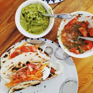 Fish tacos on a Monday, not complaining.