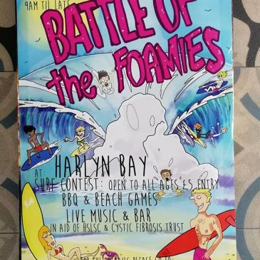 @battle_of_the_foamies 30th June, get ready to rumble. Amazing poster thanks to @benjdroid and @ortiz_foto / @gracias_de_nada