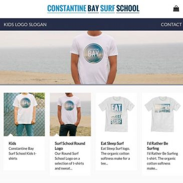 The weather is hotting back up so time to get your self a @constantinebaysurfschool tshirt.
