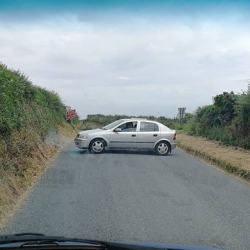 Just another day on the roads of Cornwall.