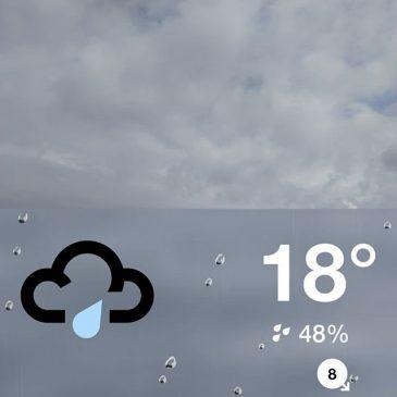 It's on its way #rain