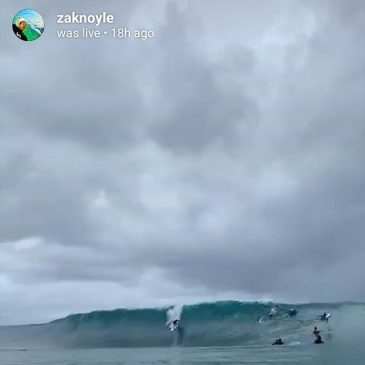 Just been watching @zaknoyle live broadcast from the water at pipe.