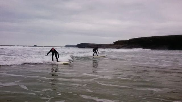 New years day #surfing at #harlyn bay