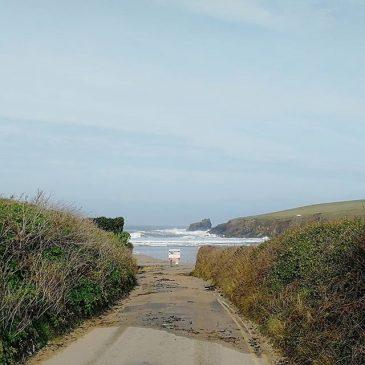 Morning High tide line.