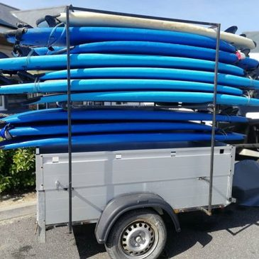 Day spent cleaning and tidying trailers and surfboards in the#cornish #sun