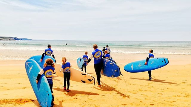 Making the most of the weather before the boardmasters storm. But don't worry, looks like it'll be over by Sunday. #cornwall #summer #surf #surfschool