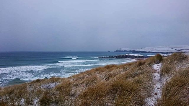 Back when surfing in isolation just meant a bit of adventure. #constantinebay #Cornwall #wintersurf