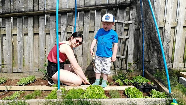 Earth day, staying at home but getting our hands in the soil.