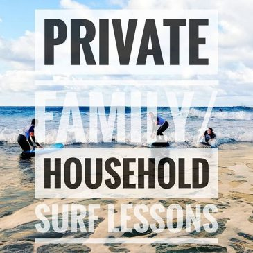 Private family and household surf lessons available NOW £55 per person (max of 5) Surf lessons aren't just fun in the sea but a great education in beach environment and surf safety in the best outdoor classroom there is.